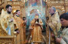 Архієрейська Літургія в Хресто-Воздвиженському храмі.
