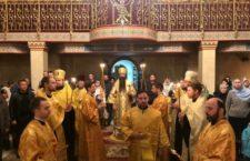 Митрополит Варсонофій звершив всенічне бдіння в Хресто-Воздвиженському храмі.