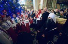 Служіння митрополита Варсонофія у Хмільнику. Колядки